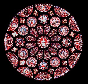 rozeta chartres katedra